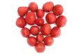 Heart of strawberry on white background isolated Royalty Free Stock Image