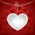 Heart on a string frame. Royalty Free Stock Photos