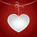 Heart on a string frame. Stock Image