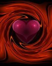 Heart Swirl Stock Photography