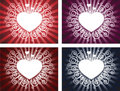 Heart with swirl background Royalty Free Stock Photography
