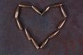 Heart symbol from bulletsd