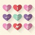 Heart Symbol Icon Set With Lov...