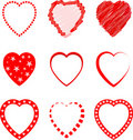 Heart Symbols Set Stock Photo