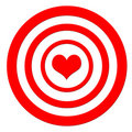 Heart target Stock Photography