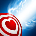 Heart target love darts vector illustration Royalty Free Stock Images