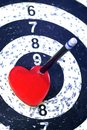 Heart target for lover concept Stock Image