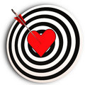 Heart Target Means I Love You Achieved Royalty Free Stock Photography