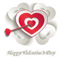 Heart target paper d valentine love template Stock Images