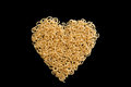 Heart to eat a made of pasta Royalty Free Stock Images