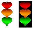 Heart Traffic Lights Stock Images