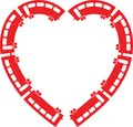 Heart Train vector illustration Royalty Free Stock Photo