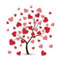 Heart Tree Logo Royalty Free Stock Photo