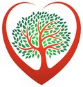 Heart tree logo Royalty Free Stock Photo
