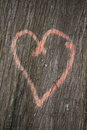 Heart on tree a spray pained a trunk Royalty Free Stock Photos