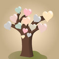 Heart tree stylized d vector for celebrate valentines day Stock Photography