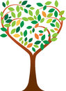 Heart tree vector illustration of logo Stock Photography