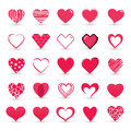 Heart valentine icon set vector Royalty Free Stock Image