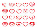 Heart valentine icon set