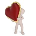 The heart for valentine s day is big red and shows the love between two people Royalty Free Stock Photos
