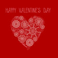 Heart on Valentine`s Day