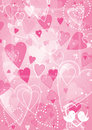 Heart valentines day background Stock Photography