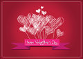Heart for valentines day background design Royalty Free Stock Photos
