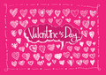 Heart for valentines day background design Royalty Free Stock Photo