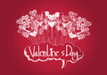 Heart for valentines day background design Stock Photography