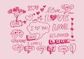 Heart for valentines day background design Stock Image