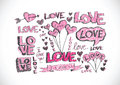 Heart for valentines day background design Stock Photo