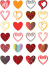 Heart vector Stock Images