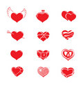 Heart vector icons Stock Photo