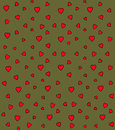 Heart vector pattern seamless with pink hearts Royalty Free Stock Photography