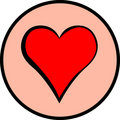 Heart vector symbol Stock Images