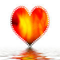 Heart  on water  Stock Images