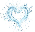 Heart from water Royalty Free Stock Photo