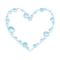 Heart with watercolor water drops Royalty Free Stock Photo