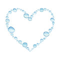 Heart with watercolor water drops, isolated on a white backgroun Royalty Free Stock Photo