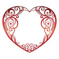 Heart on white background Royalty Free Stock Image