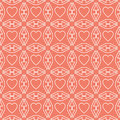 Heart white line valentine day design pattern on pink background