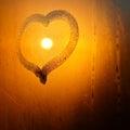 Heart On Window With Sun