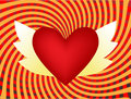 Heart wings Royalty Free Stock Image