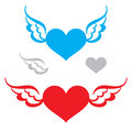 Heart and Wings Royalty Free Stock Photo