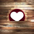 Heart in wood card template eps this is editable vector illustration Stock Photography