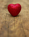 Heart on wood red a background of Royalty Free Stock Photos