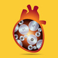 Heart works illustration of the inside of human containing machinery cogs eps file with transparencies Royalty Free Stock Photography