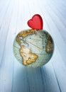 Heart World World Globe Background Royalty Free Stock Photo