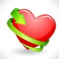 Heart wrapped with Arrow Stock Photos