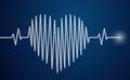 Heartbeat heart health cardiology concept Stock Photo